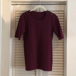 Banana republic cable knitted short sleeve